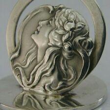 More details for wonderful english solid sterling silver art nouveau menu holder 1909 antique 22g