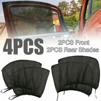 4Pcs Car Window Sun Shade Covers Visors Front Rear Screen Sunshade Protector