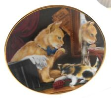 Captivating Cats Story Plates I SCENT MISCHIEF Bloomsbury 1989 5.5 inches