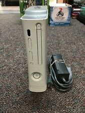 Xbox 360 console white with powercord and 60 Gb hard disk drive tested and works