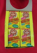 1990-91 FLEER BASKETBALL UNOPENED WAX BOX 36 PACKS