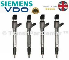 SET OF 4 NEW GENUINE VDO INJECTOR FITS FORD TRANSIT CUSTOM 2012 ON 2.2