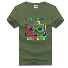 Esta es mi disfraz de hombre 80s Camiseta cinta musical chicos Top Algodón Camiseta Fiesta 7839