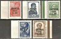 DR Nazi Latvian Rare WWII Stamp Overprint LATVIJA 1941 Nazi Occupation Ostland