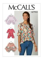 M7903 Sewing Pattern Easy Loose-fitting pullover tops sleeve var McCall's 7903