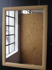 Spiegel mit Rahmen Badspiegel Wohnraumspiegel Wandspiegel Buche Holz 80 x 60 cm
