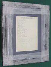 """1937-38 Oldham Athletic FC firmato montato Album pagina di visualizzazione 11"""" x 9"""" FRAME"""