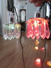 Vtg Rare Chandelier Prism Kurt Adler Santas World Italian Miniature Xmas Lights