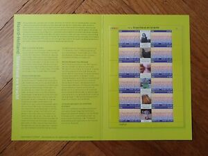 2002 NETHERLANDS NEDERLAND SHEET IN BOOKLET PROVINCE NOORD-HOLLAND VF MNH