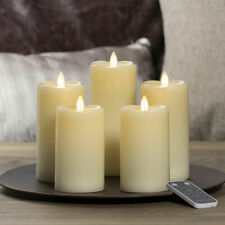 Sterno Home Pillar LED  Remote Control Candles with Moving Flame, 5 Pack BNIB