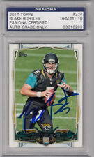 BLAKE BORTLES SIGNED 2014 TOPPS #374 RC CARD PSA/DNA SLABBED GEM MINT 10