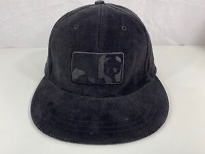 Rare Enjoi Skateboards Corduroy Fitted Cap Hat Black