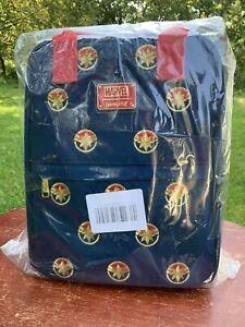 Disney Marvel X Loungefly Captain Marvel Mini Backpack 2021 NWT Worldwide Ship
