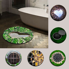 Funny Manhole Cover Design Round Mats Felt Floor Rug Carpet Non-slip Bathmat