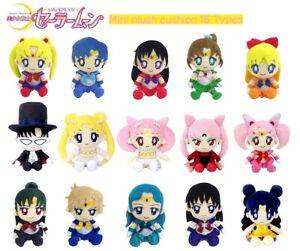 NEW Rare Sailor Moon Mini Plush Cushion Doll 15 Types Bandai Official Japan