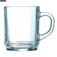 Set of 6 Luminarc Clear Mug 25cl Tea Beaker Coffee Cups Glass Tumbler