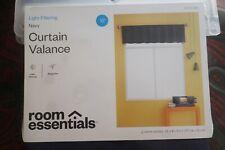 "ROOM ESSENTIALS - Light Filtering - NAVY CURTAIN VALANCE - 15"" New w/tags"