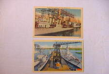 Classic! WWII Postcards BATTLESHIPS & DESTROYERS Color Linen UNUSED  Very Fine