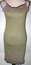 New Womens NWT Designer Fabrizio Del Carlo M Sun Dress Lounge Purple Green Italy