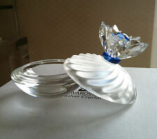 Swarovski Silver Crystal - Small Round covered dish/ring tray - in Swarovski Box