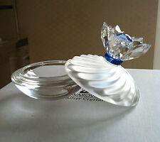Swarovski Silver Crystal - Small Round covered dish/ring tray - in Swarovski Box