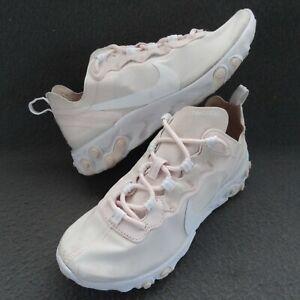 Nike 6.5 37.5 Women React Element 55 Sneaker Pale Pink White Running BQ2728-600
