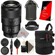 Sony FE 90mm f/2.8 Macro G OSS Lens with Cleaning Accessory Kit