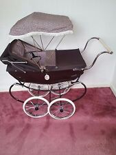 Girls Silver Cross Chatsworth Rose Dolls Pram With Sun Canopy and Apron, BROWN