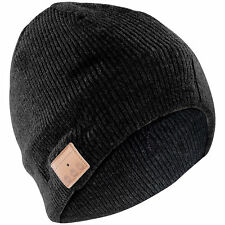 Callstel Beanie-Mütze inkl. integriertem Headset m.Bluetooth, FM-Radio, schwarz
