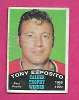 1970-71 OPC # 247 HAWKS TONY ESPOSITO TROPHY GOOD CARD (INV# C4339)
