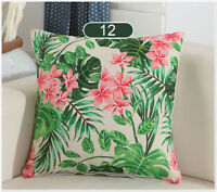 """NEW TROPICAL COLORFUL FLOWERS DECO TAPESTRY THROW PILLOW CASE CUSHION COVER 17"""""""