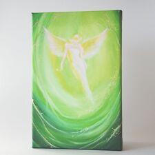 """Engelbild in Grün """"Engel fühlen"""" Spirituelle Bilder, Wanddeko fürs Wohnzimmer"""