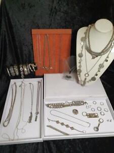 Deceased Estate Jewellery Silver Tone Inc Sterling Silver Bangle Bulk Lot 3