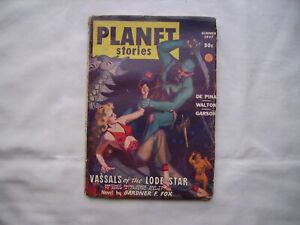Planet Stories Summer 1947 Science Fiction Magazine