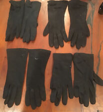 Lot of 4 Ladies Vintage Black Gloves