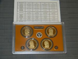 2011 S Presidential Dollar Proof Set 4 Coins Original Box & COA
