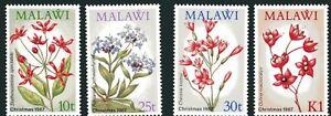 Malawi MiNr. 489-92 postfrisch MNH Blumen (Blu529