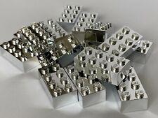 Lego silver chrome brick 2x4  (Lego Custom)