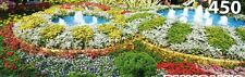 """COLORFUL GARDEN"" Floral Landscape Flowers Fountains BOXLESS Jigsaw Puzzle *NEW*"