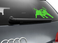 Bull Car Sticker Styling Window Decal, Neon Green