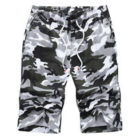 Men's Camo Cargo Shorts Military Army Camouflage Loose Short Pants Casual M-4XL