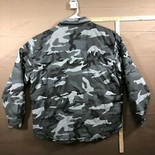 HARLEY DAVIDSON BIG GRAPHIC REVERSIBLE CAMOUFLAGE Jacket Mens Size L