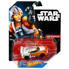 Hot Wheels Star Wars 1:64 Scale Diecast LUKE SKYWALKER Character Car (DTB05)