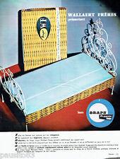 PUBLICITE ADVERTISING 026  1964  les draps Wallaert Frères en Tergal