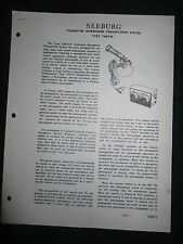 Seeburg Transistor Microphone Pre Amplifier System TMPS-56 Service Manual Parts