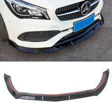 Front Bumper Lip Cover Trims For Mercedes Benz CLA 45AMG W117 17-18 Carbon Fiber