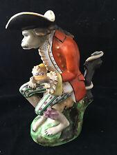 Pichet Singe 19 ème Vieux Paris Porcelaine Grotesque Verseuse