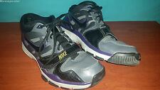 Nike Flywire Trainer 1 407766 Silver/Black/Purple Men's Shoes size 12