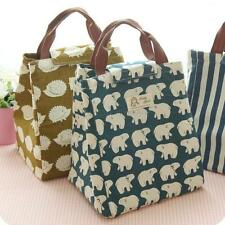Portable Insulated Thermal Cooler Lunch Box Tote Storage Bag Picnic Travel Work