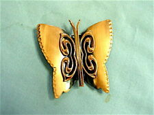 Gorgeous Large Vintage RENOIR Copper Butterfly Pin Brooch Signed Minty Condition